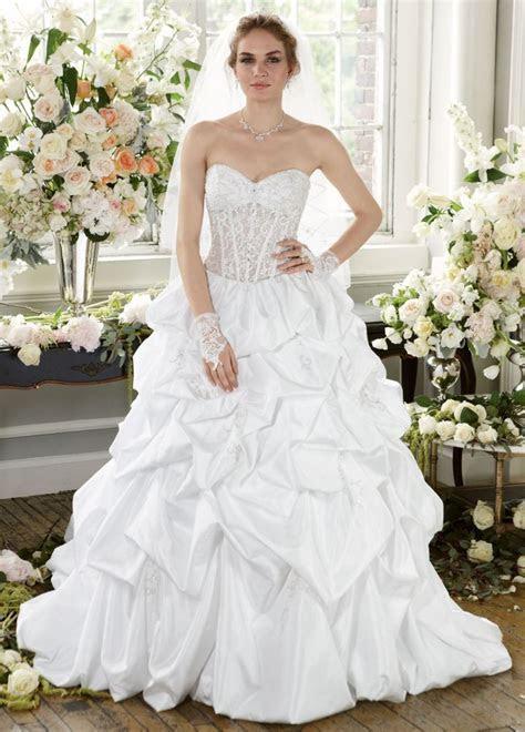 David's Bridal Wedding Dress Pick Up with Illusion Bodice