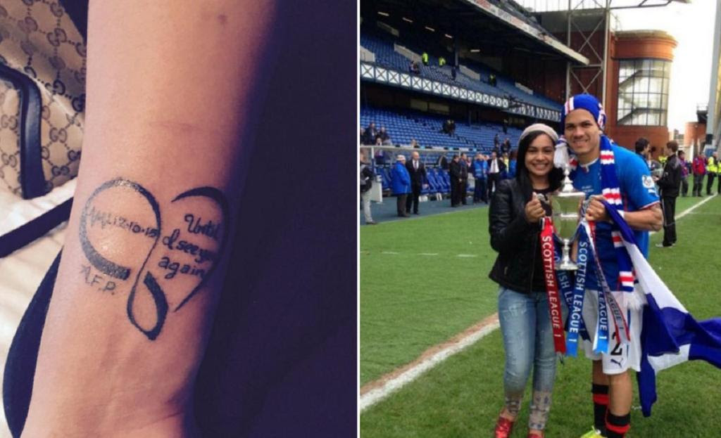 Until I See You Again Arnold Peralta Wifes Tattoo Tribute To
