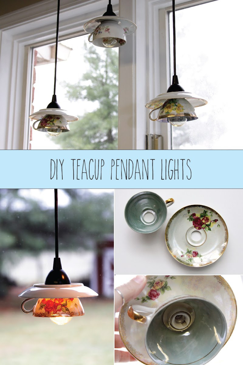 DIY Teacup Pendant Lights - Flamingo Toes - HMLP 77 Feature