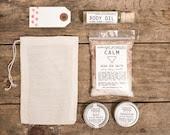 Bath and Body Gift Set. 100% Natural. Vegan. Handcrafted. Gift Bag. Hand stamped Gift Tag. - HerbivoreBotanicals