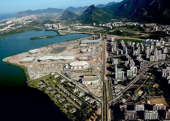 Construção do Parque Olímpico em Jacarepaguá  (Foto: Matthew Stockman/Getty Images)