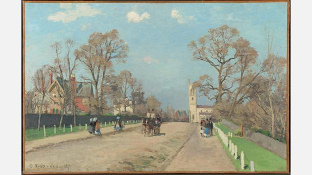 Pissaro painted The Avenue, a view of the London suburb Sydenham (Credit: National Gallery, London)