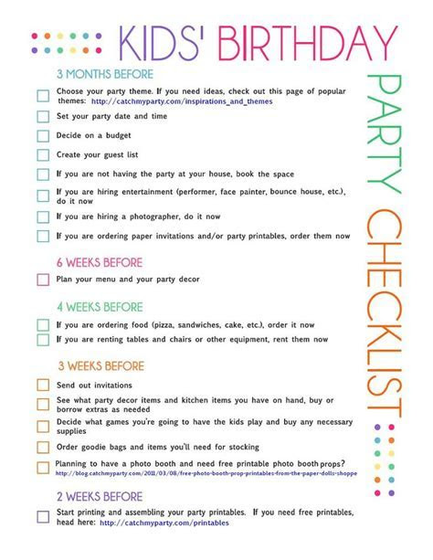 17 Best ideas about Party Planning Checklist on Pinterest
