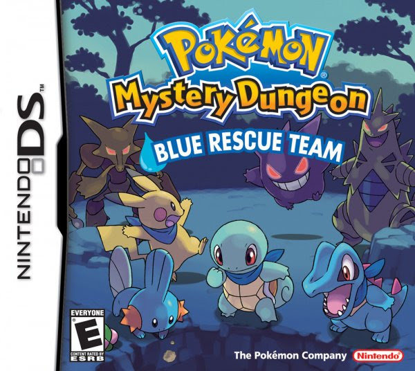 Pok\u00e9mon Mystery Dungeon: Blue Rescue Team Cover Artwork