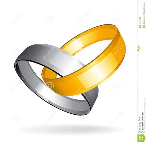 Two Gold And Silver Wedding Rings Stock Photos   Image