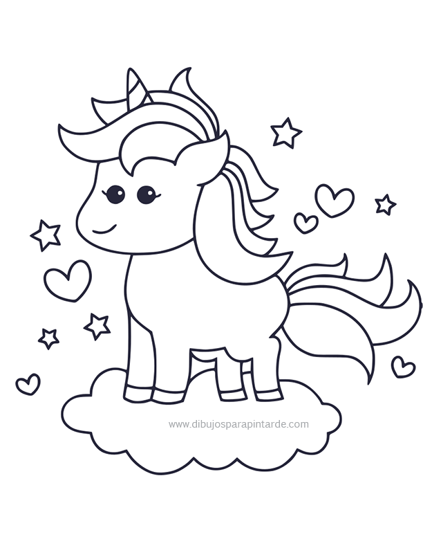 Unicornio De Dibujo Los Mas Bonitos Para Colorear Y