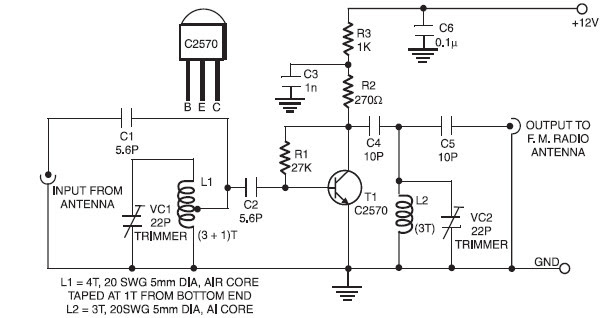 Antenna Booster Circuit Diagram Circuit Diagram Images