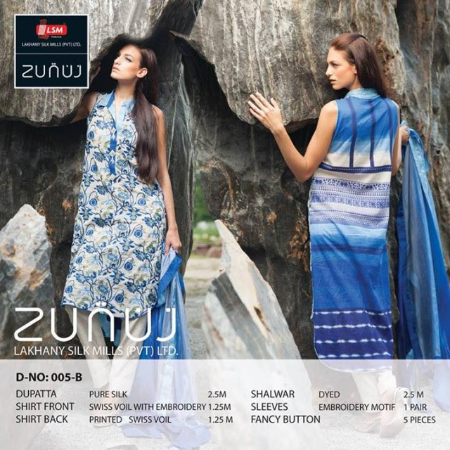 Beautiful-Cute-Girls-Models-Wear-Summer-Eid-Dress-Collection-2013-Lakhani-Silk-Mills-19