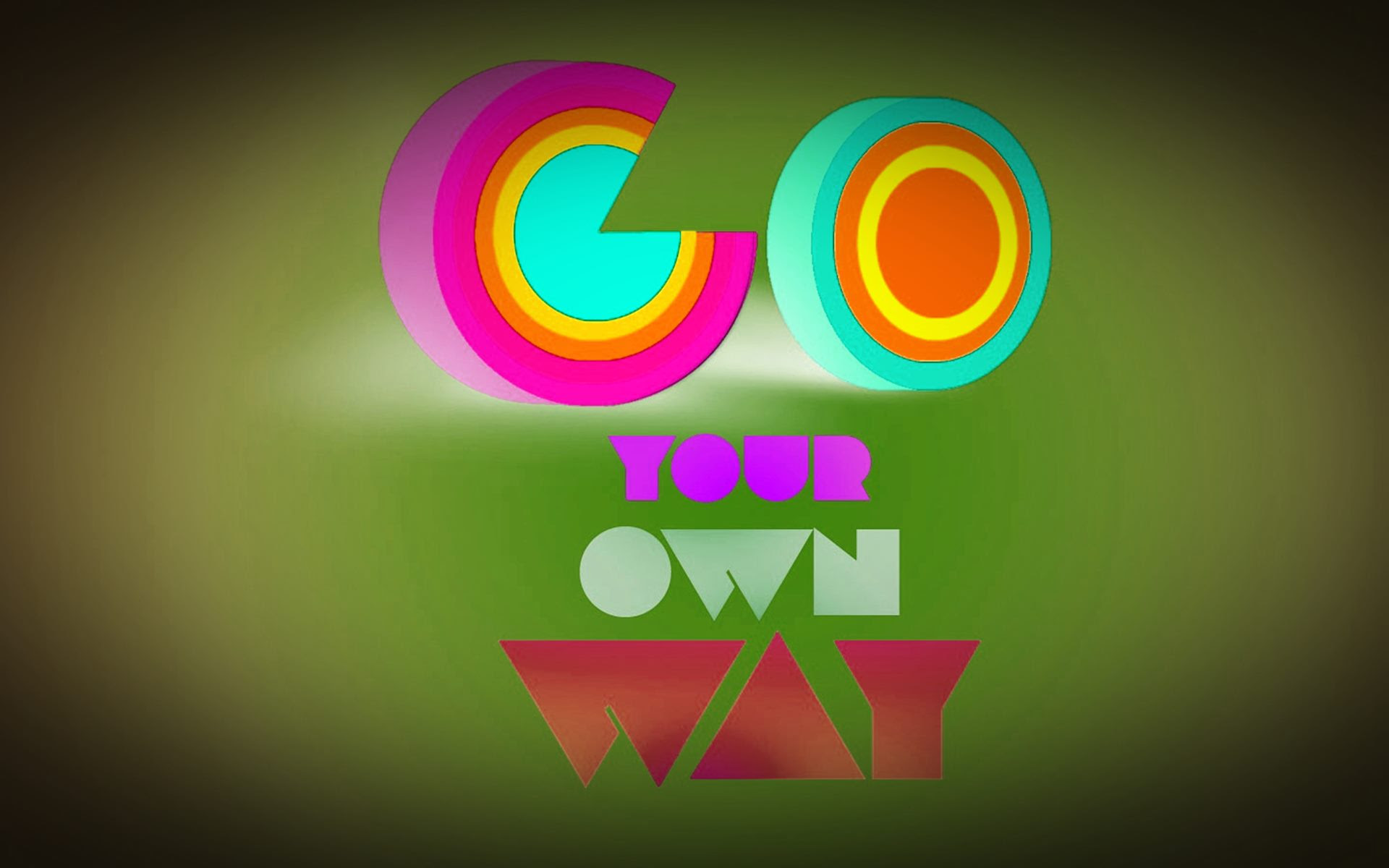 Go Your Own Way Attitude Quotes Hd Wallpaper 05489