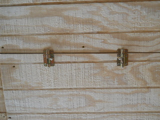 Attic Access Door Bolt Latches Latched