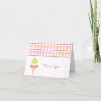 Sweet Ice Cream Thank You Card card