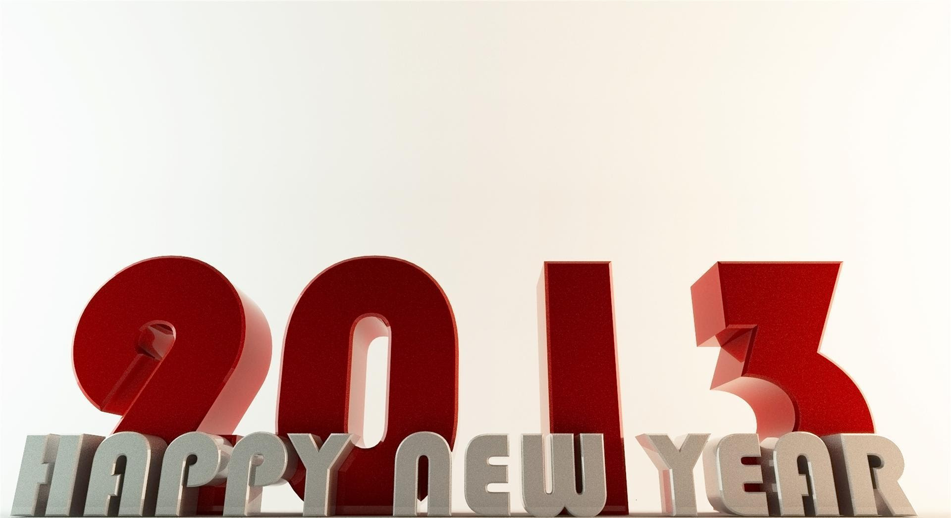 Happy New Year 2013 3D Wallpaper 1920×1047 - High Definition