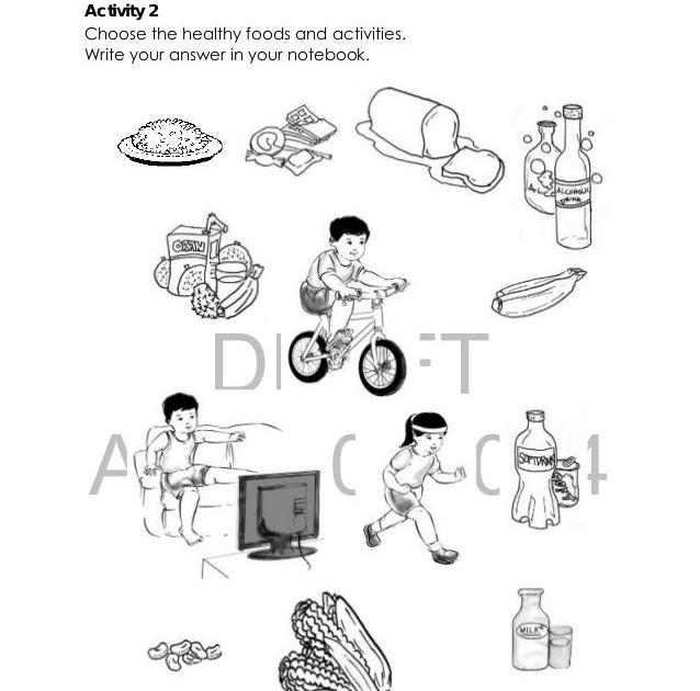 Printable Health Worksheets For Kindergarten