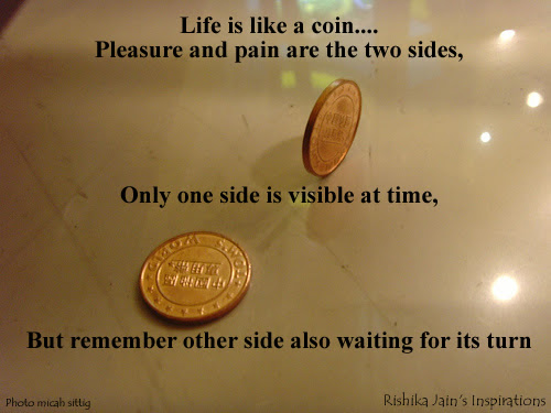 Life Is Like A Coin Pleasure Quotes Opportunity Quotespictures