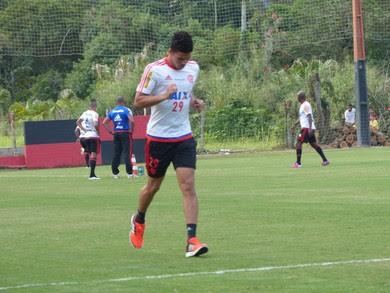 Flamengo, treino, Ninho do Urubu, Nixon (Foto: Richard Souza/GloboEsporte.com)