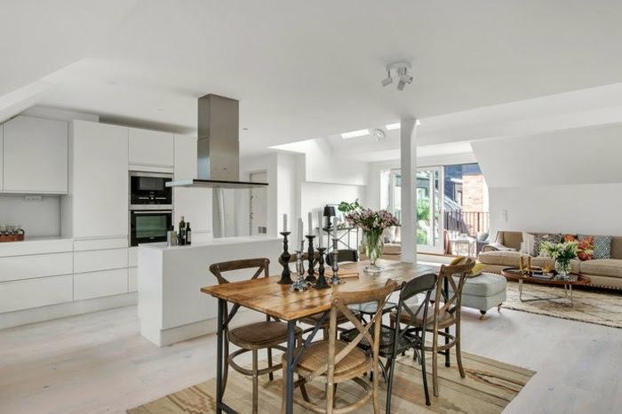 Wohnzimmer Einrichtung Ideen – Raum mit Dachschräge