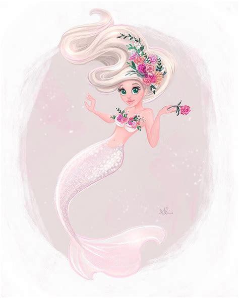 pin  heather sallie  mermaids   anime mermaid