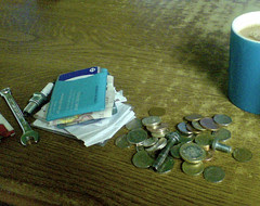Emptied pockets in JJ's Cafe