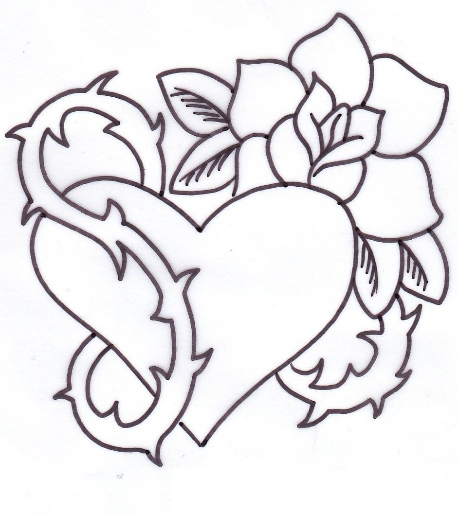 Roses Drawings With Hearts Free Download Best Roses Drawings With