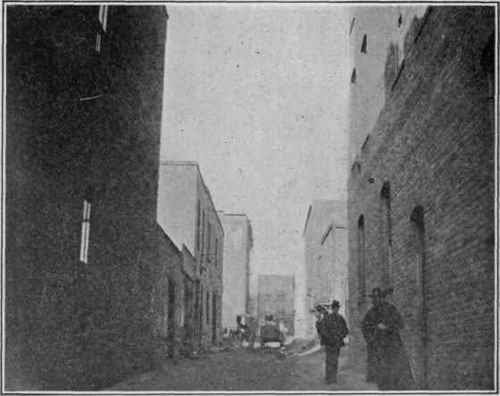 city street alley. Planned as interior street,