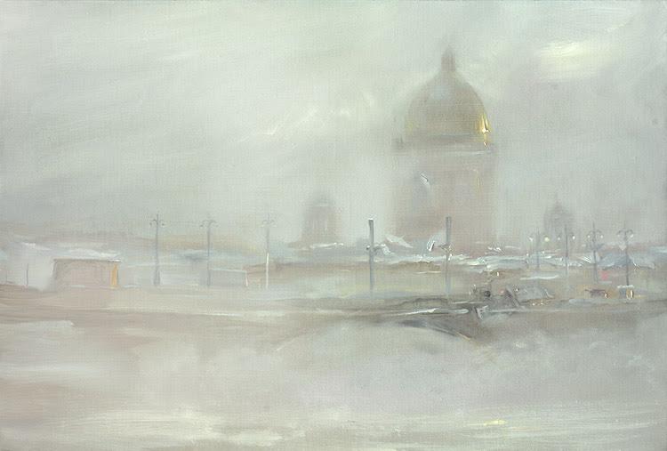 Saint Petersburg By Oleg Trofimov, Oil Painting