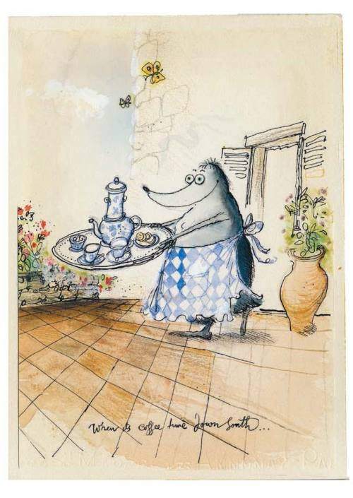 #2 of our top 5 illustrations from Les Tres Riches Heures de Mrs Mole (courtesy of Ronald Searle)