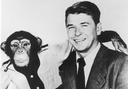 Afbeeldingsresultaat voor reagan and monkey