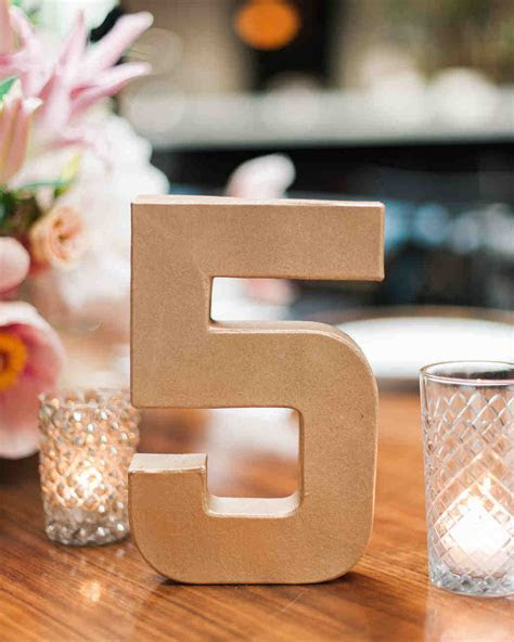 Wedding Table Number Ideas That Scored at Real