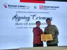 Kiri-Kanan (Kuncoro Wibowo, Chairman Kawan Lama Group dan Group CEO Sinar Mas Land, Michael Widjaja) Foto: INDUSTRY.co.id