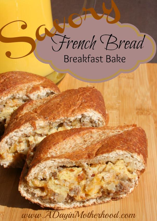 Savory French Bread Breakfast Bake