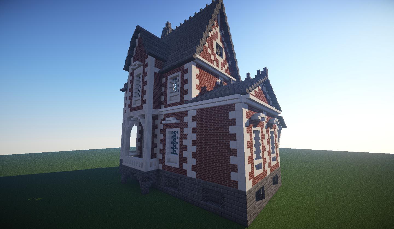The Old Ladies House Brick Minecraft House Design