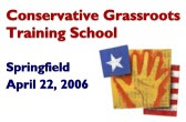 The United Republican Fund held one of their training schools, sponsored by the Leadership Institute, here in Springfield, Illinois.
