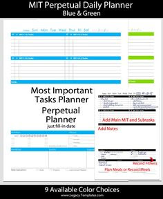 1000+ images about Printable Planners on Pinterest   Daily ...