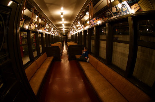 Old subway car