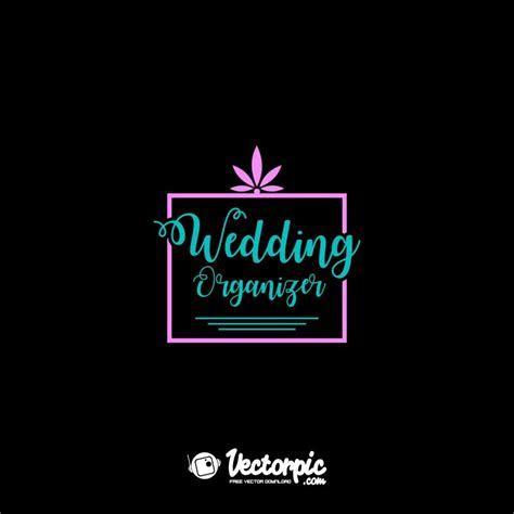 wedding organizer logo design free vector