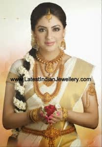Complete Temple Jewellery Bridal Set   Indian gold