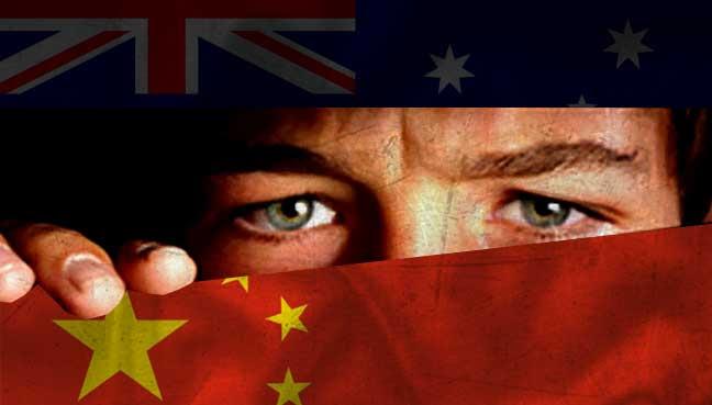 כינע צייטונג: אויסטראליע שפיאנירט אויף אונז