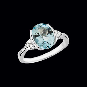 Large Oval Aquamarine & Diamond Ring