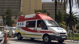 Spanish ambulance - file pic