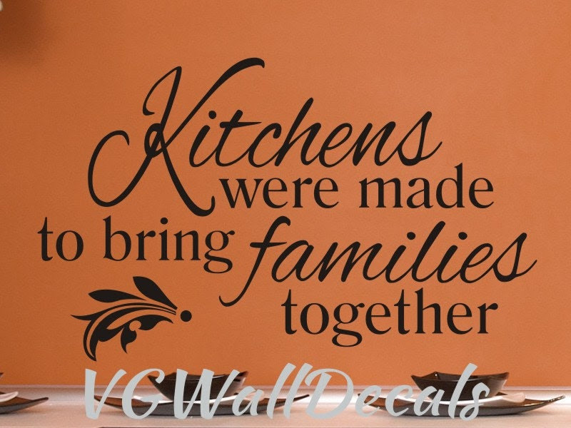 Popular items for kitchen quote decal on Etsy
