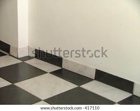 Black And White Floor Tiles With White Wall Stock Photo 417110 ...