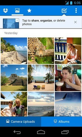 Dropbox update for Android brings fast, public photo album sharing