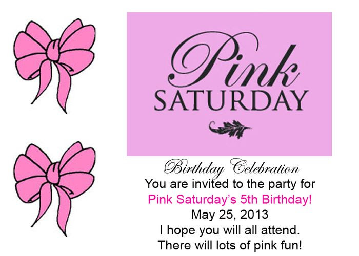 Pink Saturday 5th Birthday