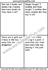 Addition Word Problems Free Printable Worksheets Worksheetfun