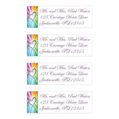 Wedding Return Address Labels   Rainbow Colors Striped