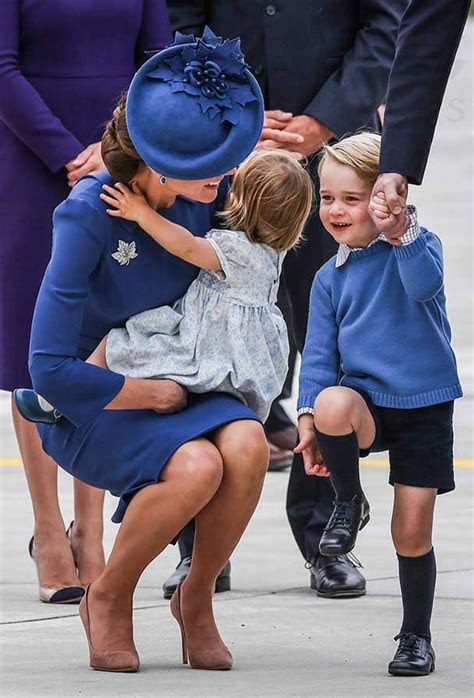 Prince William & Kate Middleton Take Prince George And