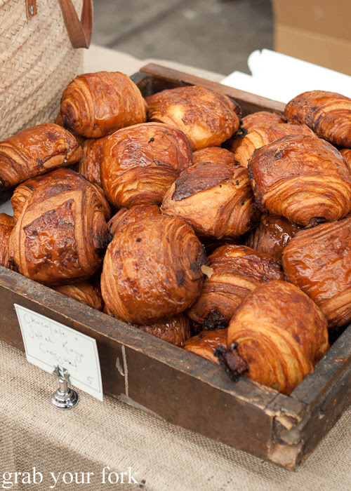 Chocolate and salted kaya croissant from Brickfields at the Sunday Marketplace, Rootstock Sydney 2014