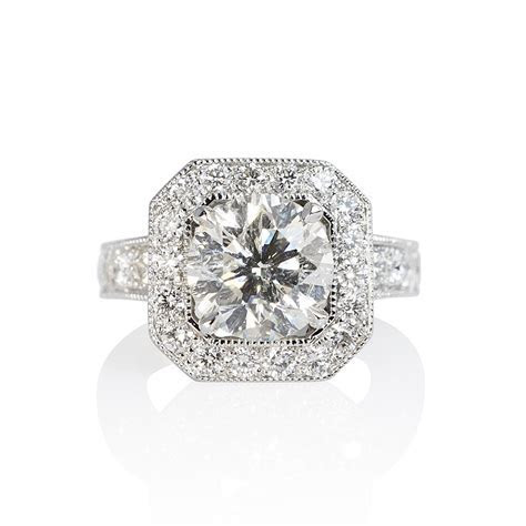 Octagon Halo with Floating Diamond Engagement Ring for Lee
