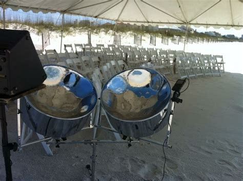images  beach wedding  steel drum