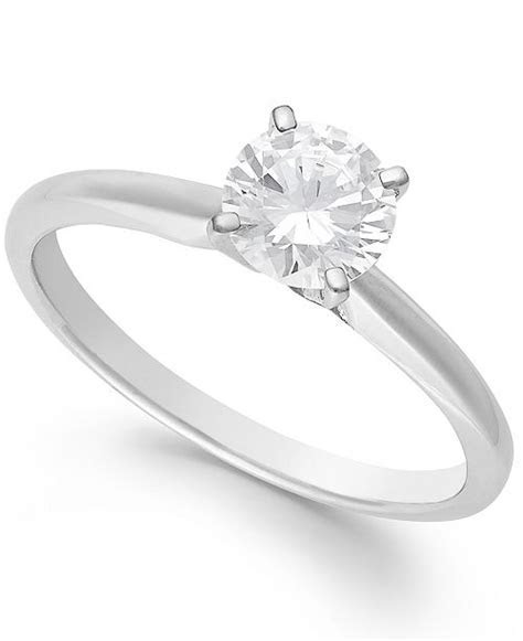 Macy's Diamond Engagement Ring in 14k White Gold, Yellow